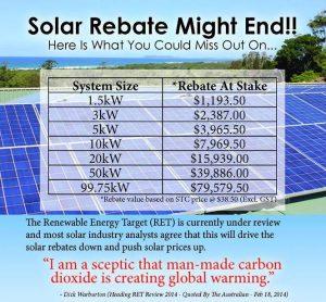 Solar Subsidy to go